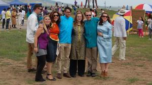 The Sukhbaatar crew in our Naadam finery
