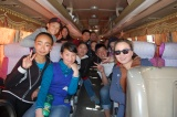 On our way. Dashka's students organized the entire day, including chartering a bus so we could all ride together. (This is one of the buses that typically runs between Bayankhongor and Ulanbaatar.)